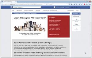 facebook-Seite der Tierklinik Heidelberg