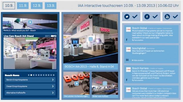 Bosch IAA interactive touchscreen