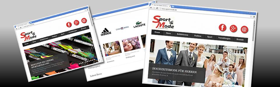 Arbeitsbeispiel Webdesign, Kunde Sport & Mode Schuhmacher Kronau