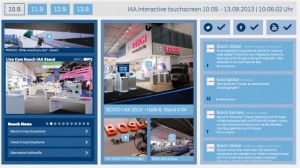 Bosch IAA interactive touchscreen