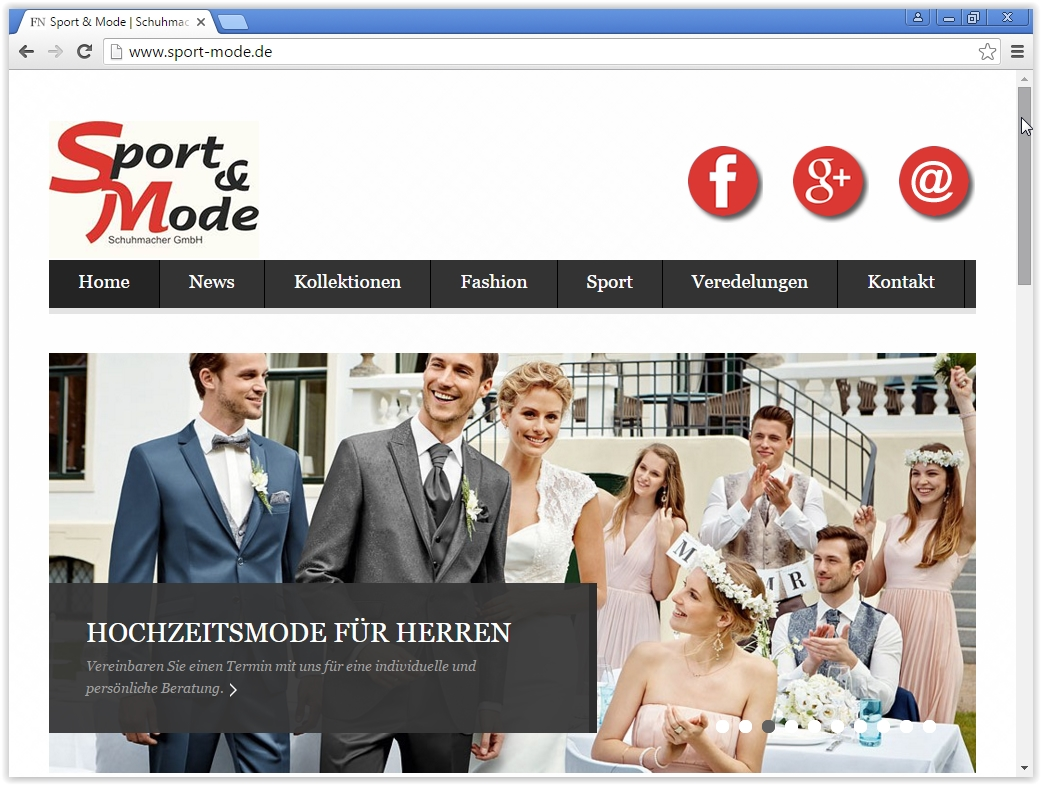 Sport & Mode Website Relaunch